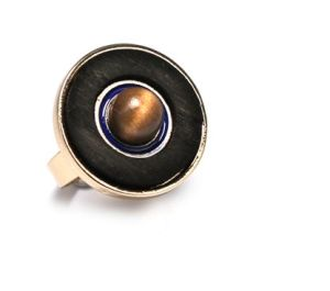 Simple Burst Matte Black Wood Ring Fashion Jewelry pictures & photos