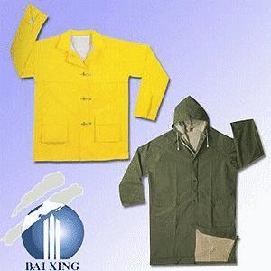 Protective PVC/Polyester/PVC Fire-Resistance Longcoat for Safety Work pictures & photos