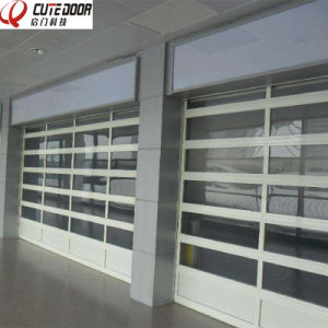 Modern Design Aluminum Clear Sectional Tempered Glass Door for 4s Shop pictures & photos