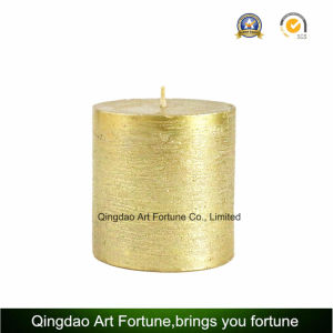 Metalic Finish Silver Pillar Candle for Home Decoration pictures & photos