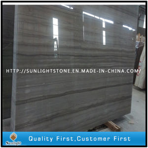 China Grey Wood/Athen Grey Marble Slabs for Wall Tiles pictures & photos