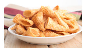 Wheat Flour Frying Bugles Chips Making Machine pictures & photos