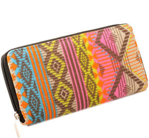 Canvas Zipped Kate Wallet Cash Holder Women Wallet pictures & photos