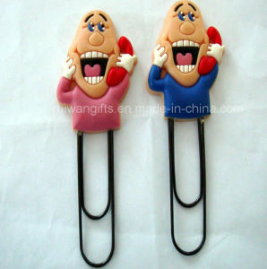 Custom Soft PVC Rubber Paper Clip for Souvenirs pictures & photos