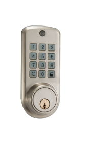 Code and Remote Controller Small Electronic Lock Plated Satin Nickel pictures & photos