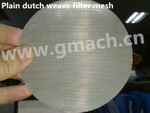 Stainless Wire Mesh Plain Dutch Weave Mesh 24/110 Meshes pictures & photos