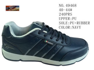 Navy Color PU Men Footwear pictures & photos