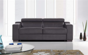 Black Color German Design 3seat Sofabed pictures & photos