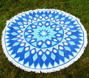 Round Cotton Sports Beach Towel pictures & photos