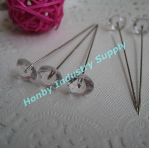60mm Wedding Floral Crystal Diamond Head Hat Pin pictures & photos