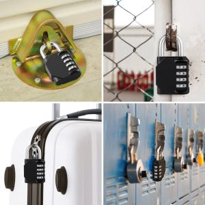 Color Mini Luggag Combination 4 Digit Padlock Metal and Plated Steel pictures & photos