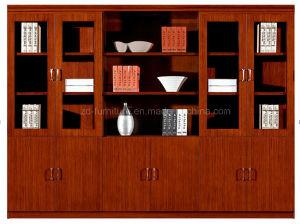 6 Doors Teak Wood Office Book Shelf with Glass (HY-C0409)
