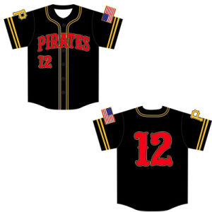Full Sublimation Printing Baseball Jersey with Embroidery Badge pictures & photos
