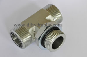 Tee Type O-Ring Face Seal Unf Thread Pipe Fitting pictures & photos