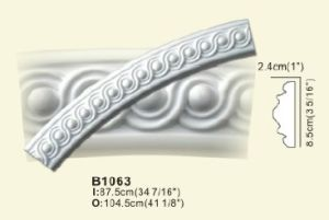 PU Curved Moulding, Ceiling Ring, Ceiling Cornices pictures & photos