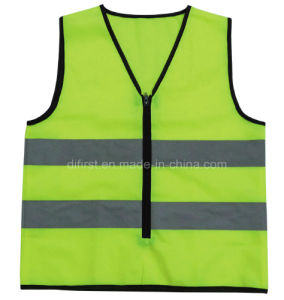 High Visibility Reflective Safety Vest with En471 Test (DFV1004) pictures & photos