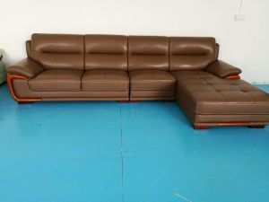 Brown Color Leather Lounge, Leather Corner Sofa (656) pictures & photos