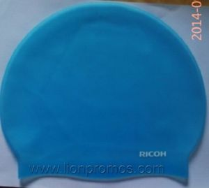Ricoh Summer Gift Promotional Silicone Swimming Cap pictures & photos