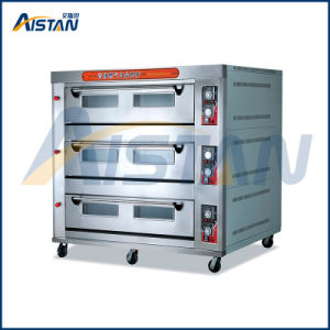 Htr-120q Factory Price with Microcomputer Digital Temperature Display 3 Layer-12 Tray Gas Oven for Bread Machine pictures & photos