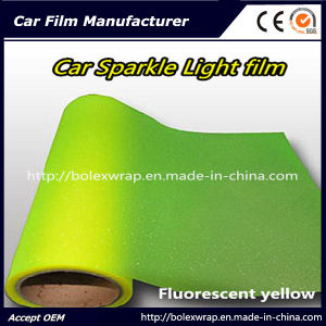 Sparkle Shining Car Light Film/ Headligh Film/Tail Light Tint Tail Lamp Film 0.3*9m Fluorescent Yellow pictures & photos