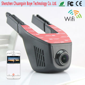 Car Video Camera with WiFi Control Cellphone Display
