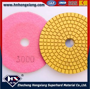 China Supplier 100mm Resin Angle Granite Floor Water Polishing Pads pictures & photos