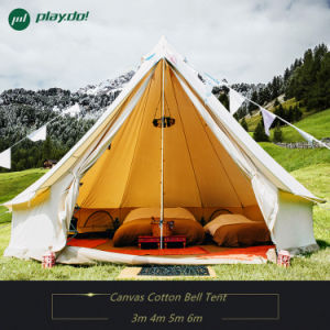 3m 4m 6m 5m Cotton Canvas Bell Tent Waterproof Family Outdoor Camping Tent pictures & photos