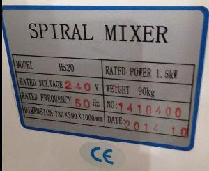 Dough Spiral Mixer Pizza Dough Mixer Flour Dough Mixer Machine pictures & photos