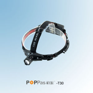 Zoomable CREE XP-E R2 LED Head Lamp (POPPAS- T30) pictures & photos