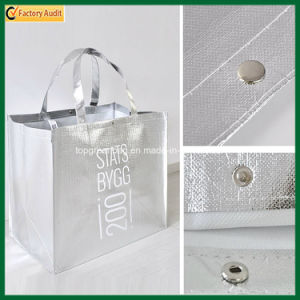 Customized Fashion Luxurious High Quality Metallic Siver Laminated Bags (TP-LB369) pictures & photos