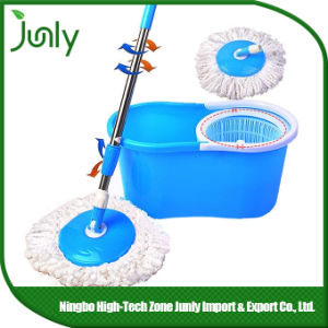Double Bucket 360 Spin Floor Microfiber Magic Mop pictures & photos