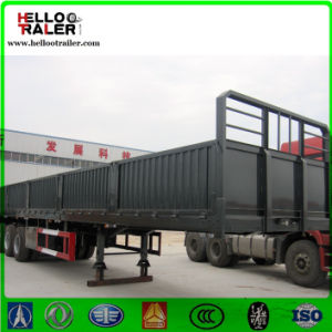 Three Axle 900mm Cargo Trailer, Side Wall Flatbed Cargo Trailer pictures & photos