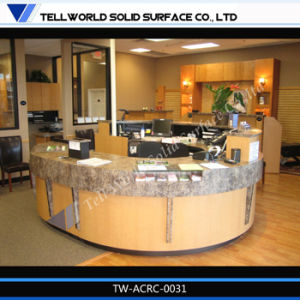 Tw Artificial Stone High Quality Semi Circle Reception Desks/Reception Desk Furniture pictures & photos