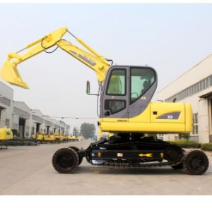 Best Design Small Excavator Wheel Crawler Together pictures & photos
