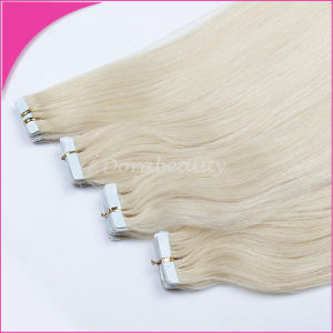 2015hot Popular Remy Adhesive Human Hair Extension pictures & photos