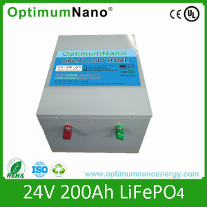 24V 200ah LiFePO4 Storage Battery with BMS pictures & photos
