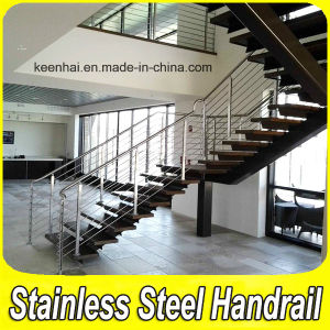Satin Finish Stainless Steel Wire Rod Railing for Stairs pictures & photos