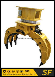 Excavator Parts Supplier Stone Grab Rotary Rock Grapple pictures & photos