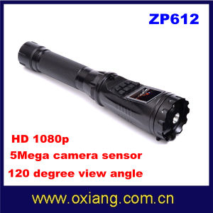 HD 1080 5m Camera Sensor Multi-Function Police Security Flashlight DVR pictures & photos