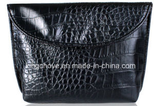 Croco Black PU Fashion Latest Cosmetic Bag (KCC191) pictures & photos