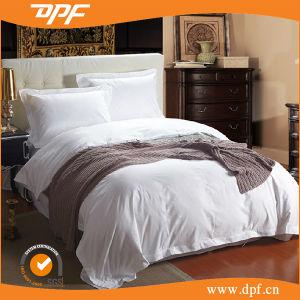 Super Soft 100% Cotton Full Sizes Plain White Wholesale Hotel Bedding Set pictures & photos