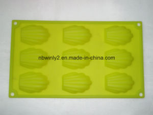 9 Holes with Shell Silicone Cake Mold pictures & photos