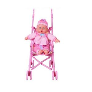 China Funny Plastic Baby Doll Stroller with Doll - China Baby Doll ...
