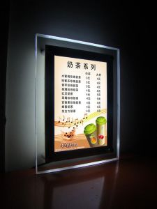 Acrylic Board Sheet Crystal Whilte/RGB Slim LED Light Box pictures & photos