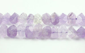 Light Amethyst Faceted Central-Drilled Nuggets Gemstone (SL72714)