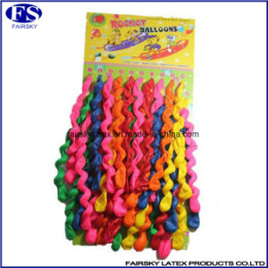 2017 Hot Sale Colorful Long Spiral Latex Screw Toy Balloons pictures & photos