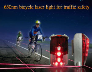 5 Super Bright LED and 2 Laser Bicycle Tail Light (JLR-046)