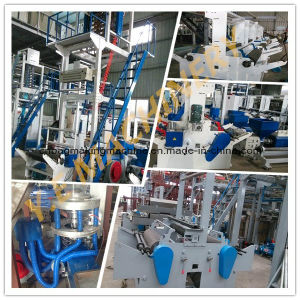 China Single Screw Double Die Head Plastic HDPE Film Blowing Machine (SJ-65) pictures & photos