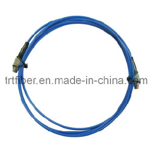 LC Singlemode Armored Fiber Optic Patch Cable pictures & photos