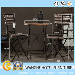 Bar Furniture Antique Stainless Steel Folding Bar Table pictures & photos